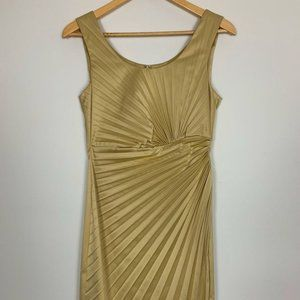 ME Too Womens Gold Scoop Neck Dress Size 10
